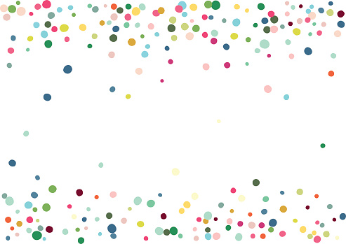 Abstract colorful flying in the air confetti. Isolated on the white background. Vector holiday illustration.