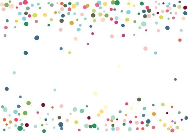 Konfetti Hintergrund – Vektorgrafik