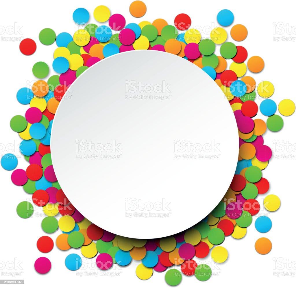 Confeti celebración de fondo. - ilustración de arte vectorial