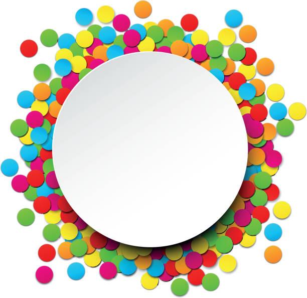 ilustrações, clipart, desenhos animados e ícones de confete comemoração do plano de fundo. - carnaval