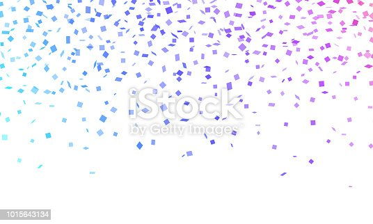 Confetti celebration horizontal background.