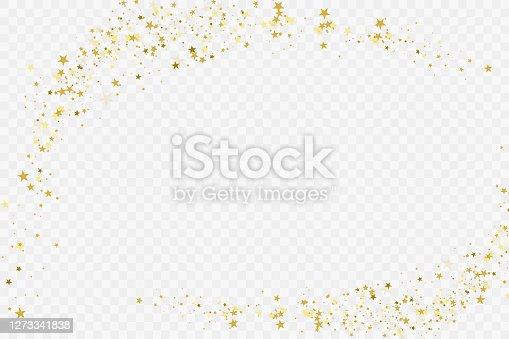 istock Confetti cover from gold stars. 1273341838