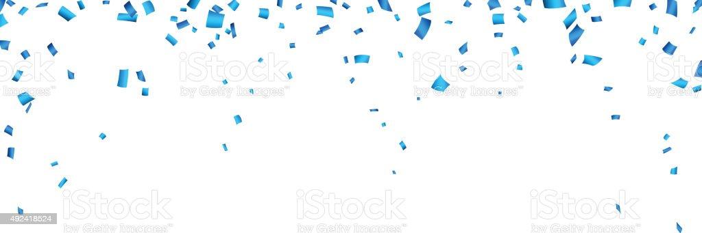 Confetti frame celebration banner vector art illustration