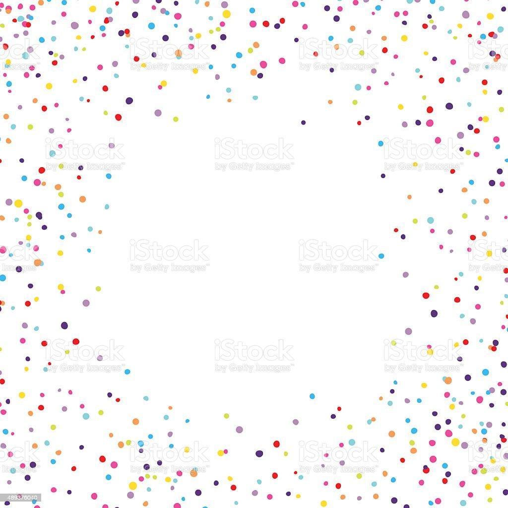Confetti Frame vector art illustration