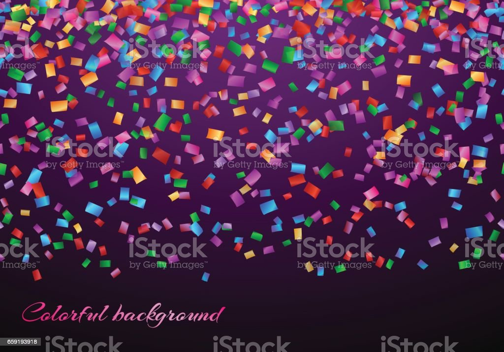 Confetti in air pattern vector art illustration