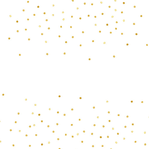 Konfetti Polka Dot. Gold strukturierte Punkte isoliert – Vektorgrafik
