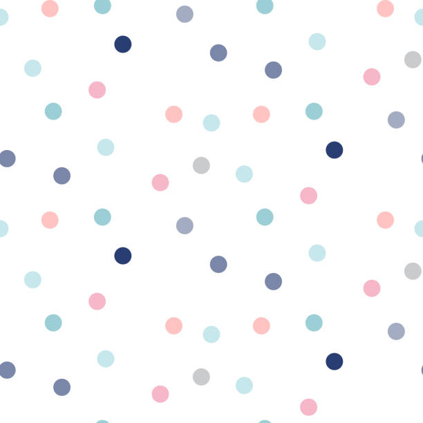 Confetti seamless vector pattern. Celebration repeat texture with sprinkles. Confetti seamless vector pattern. Celebration repeat texture with pink and blue dot sprinkles. polka dot stock illustrations