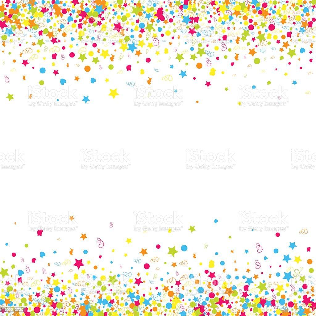 Confetti  vector background vector art illustration