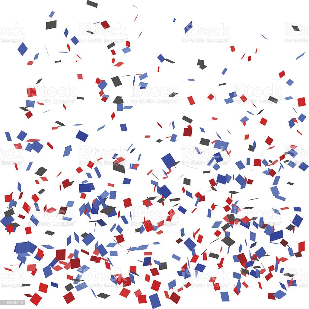 Confetti vector art illustration