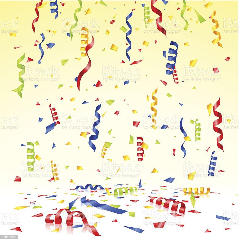 confetti (light background) - Royaltyfri Band vektorgrafik