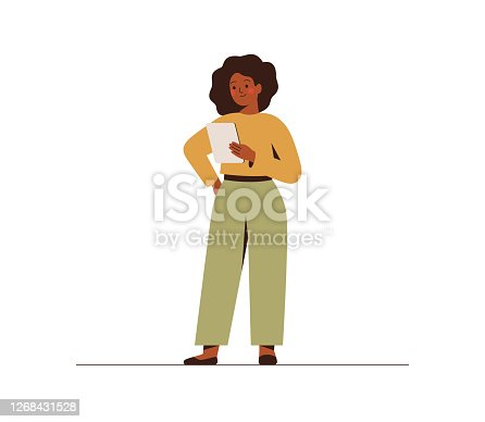 istock A confident black businesswoman is holding a tablet pc. 1268431528