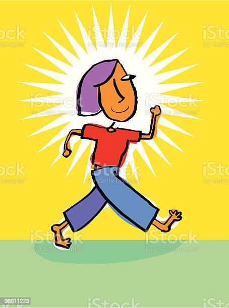 Confident Women Or Girl Walking With Pride-vektorgrafik och fler bilder på Attityd