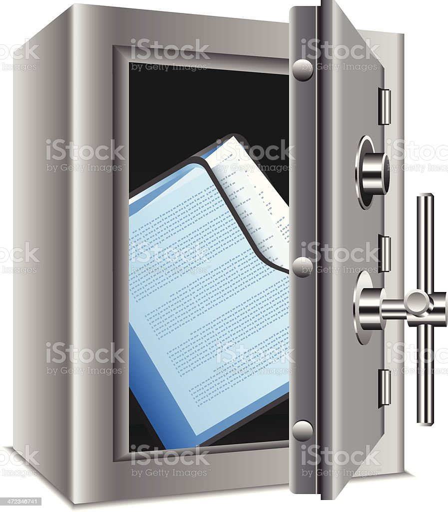 Confidential Files royalty-free stock vector art