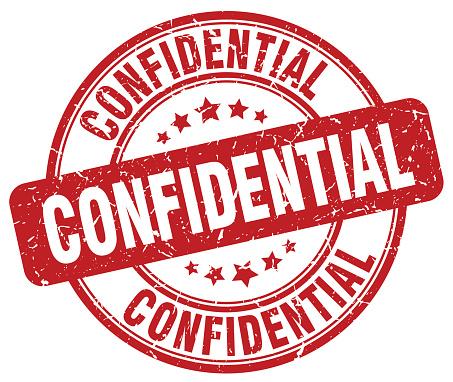 confidential red grunge round vintage rubber stamp
