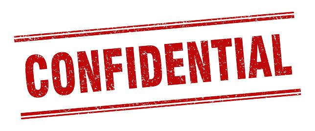 confidential stamp. confidential label. square grunge sign