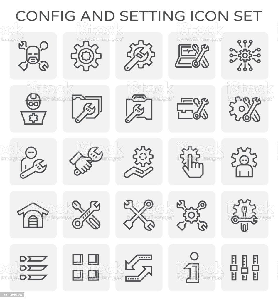 config setting icon