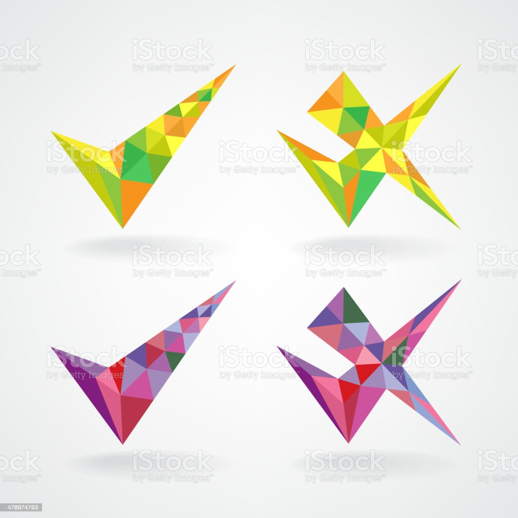 confirm and rejected icons royalty-free confirm and rejected icons stock vector art & more images of abstract