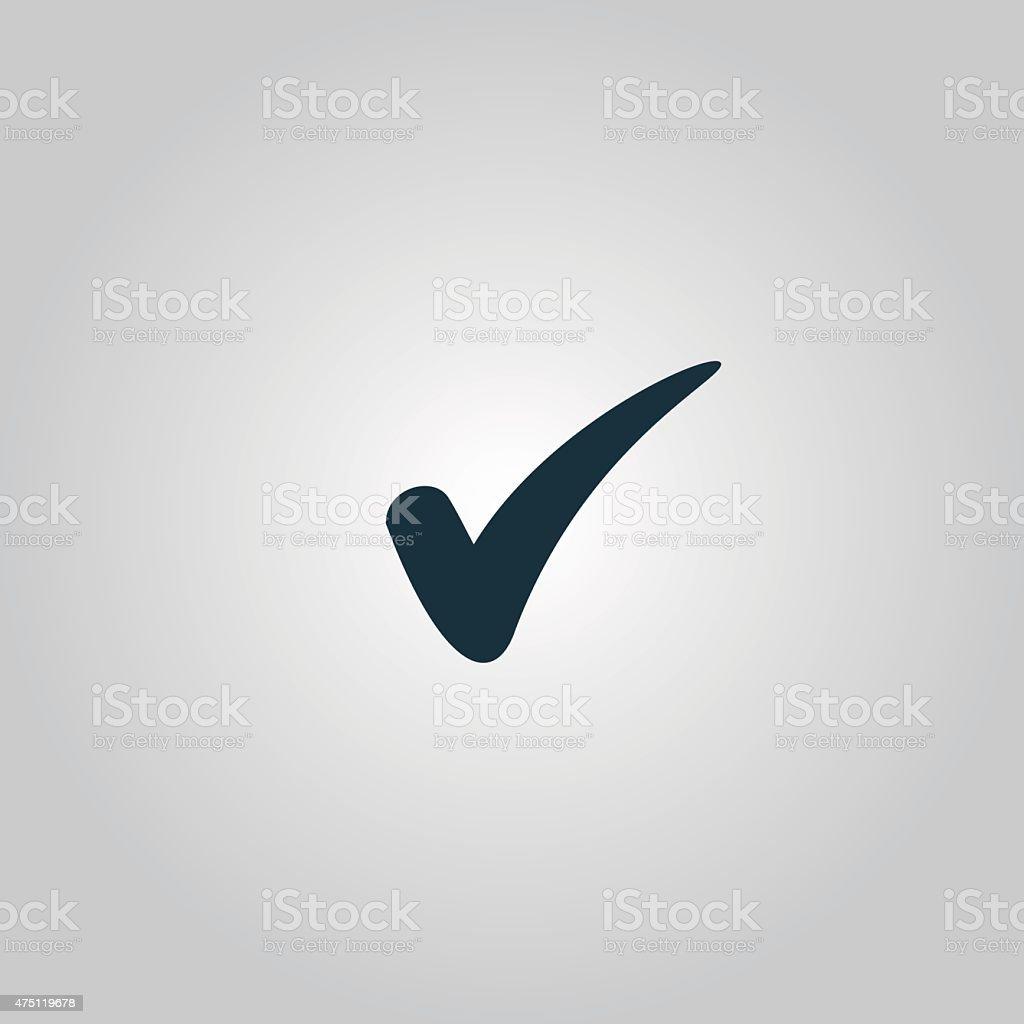 confirm icon vector art illustration