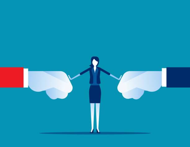 Conflict resolution of organization. Concept business solution vector illustration, Problem, Fight. vector art illustration