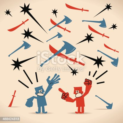 Vector illustration – Conflict.