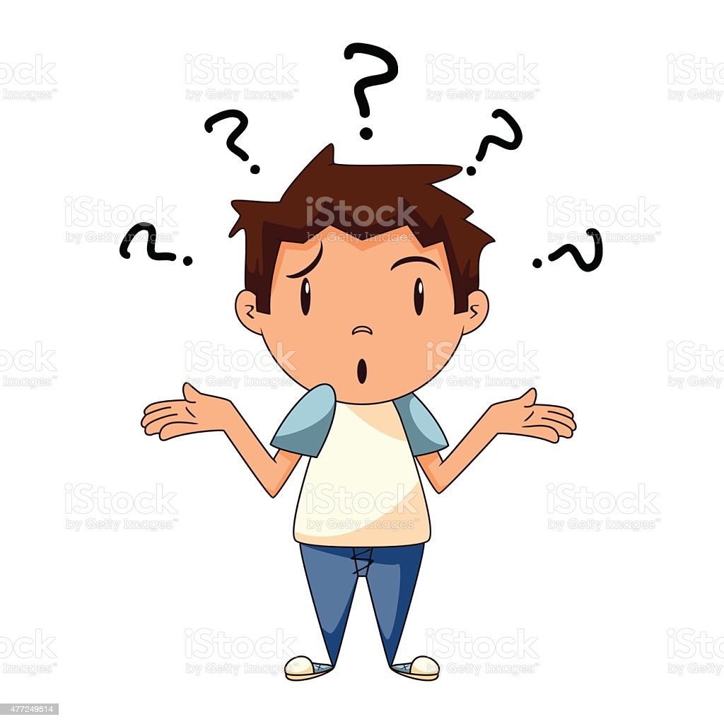 royalty free confused boy clip art vector images