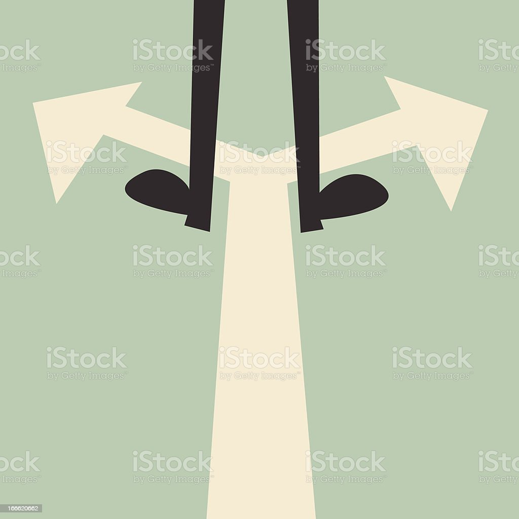 Confused concept vector art illustration