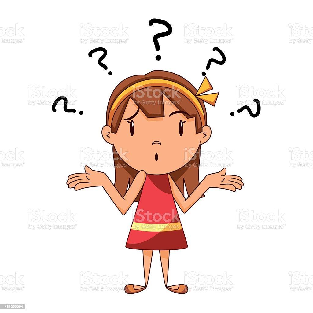 Confused Girl Shrugging Shoulders Stock Vector Art & More ...