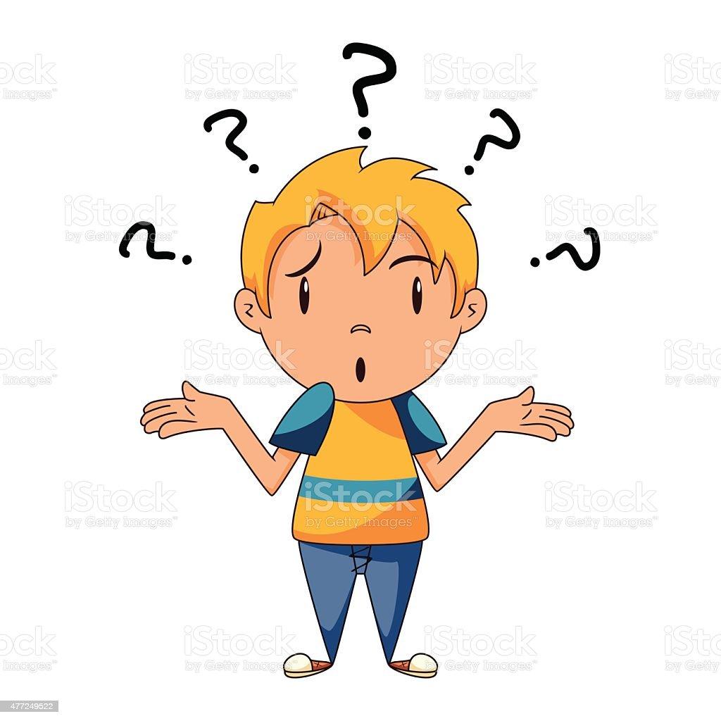 Confused Kid Shrugging Shoulders Stock Vector Art & More ...