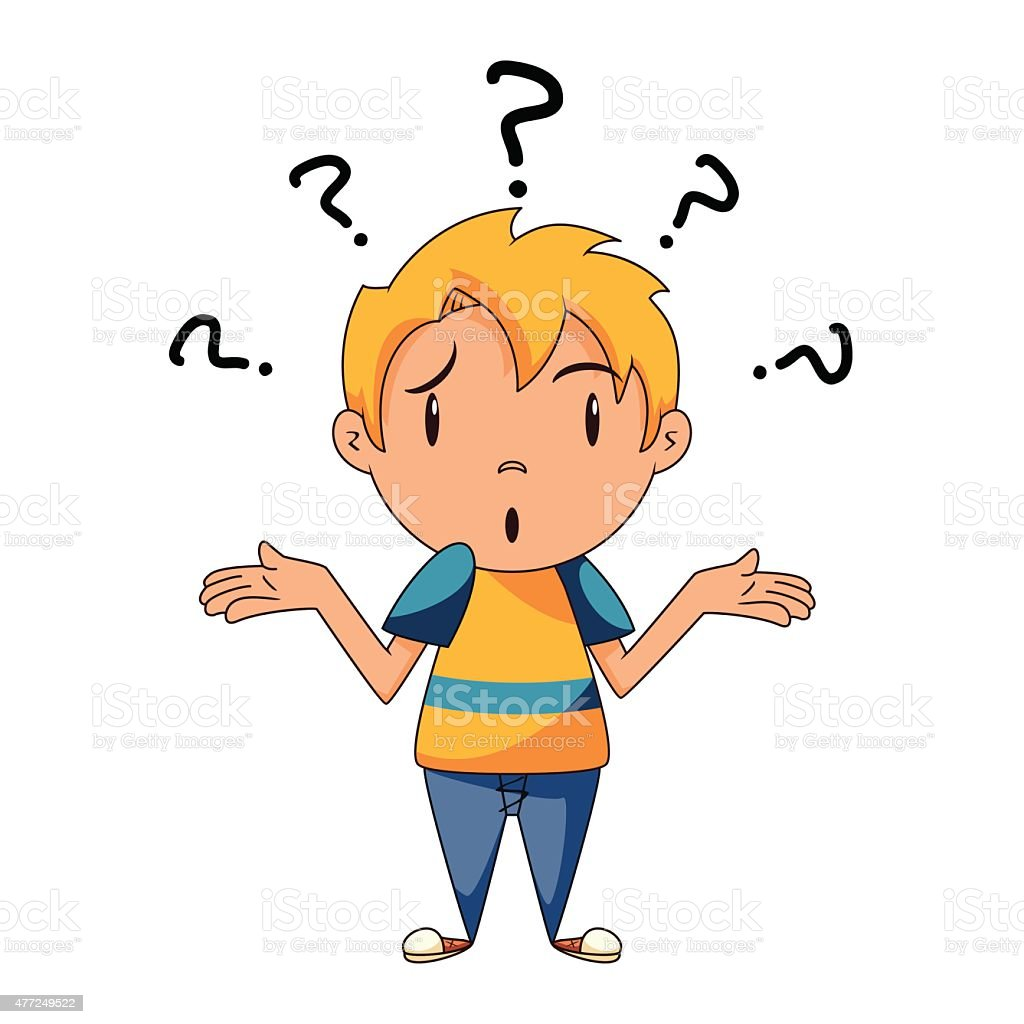 royalty free confused boy clip art vector images illustrations rh istockphoto com