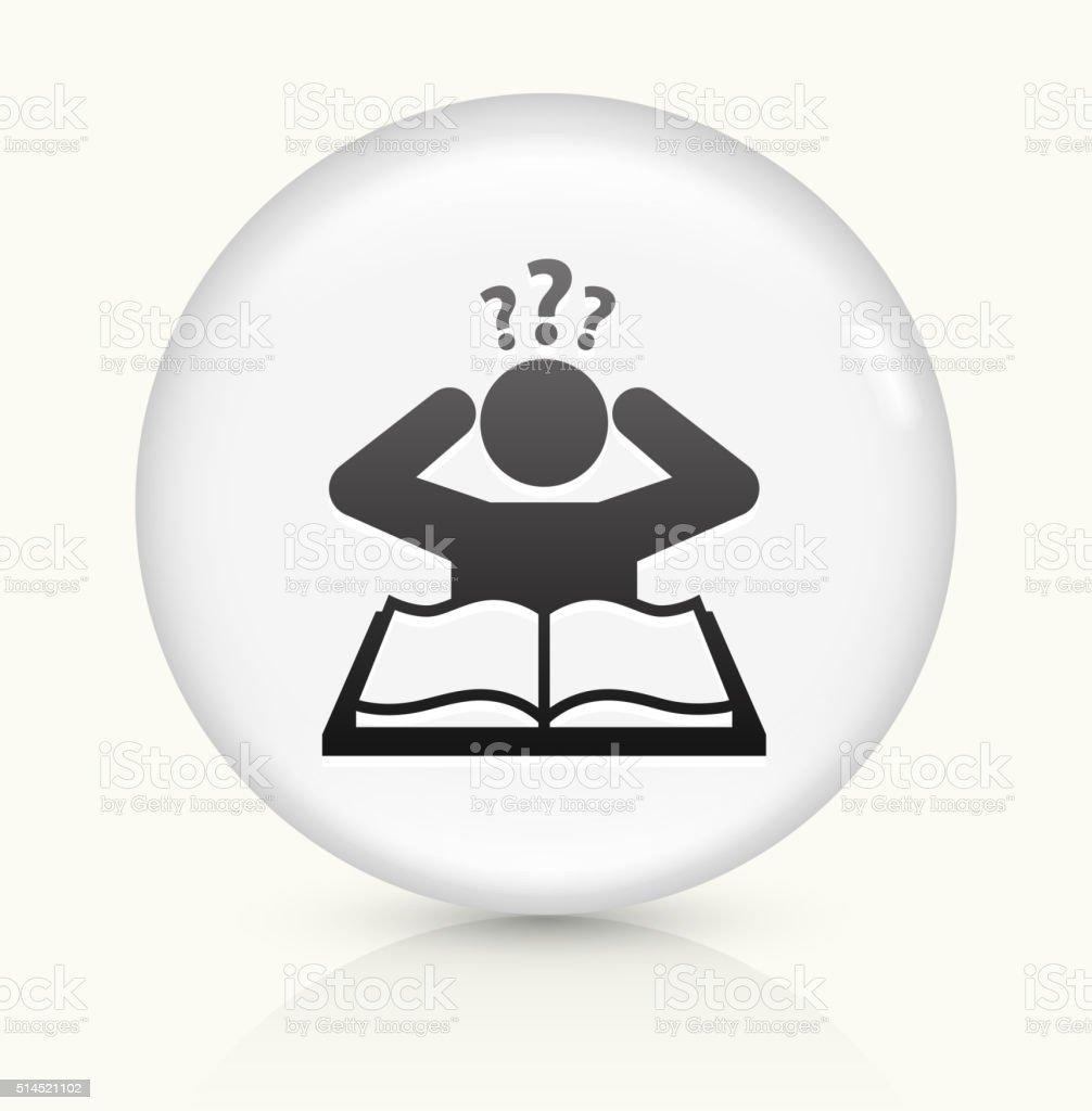 Verwirrt Lernen Symbol Auf Weißer Runder Vektor Knopf Stock Vektor ...