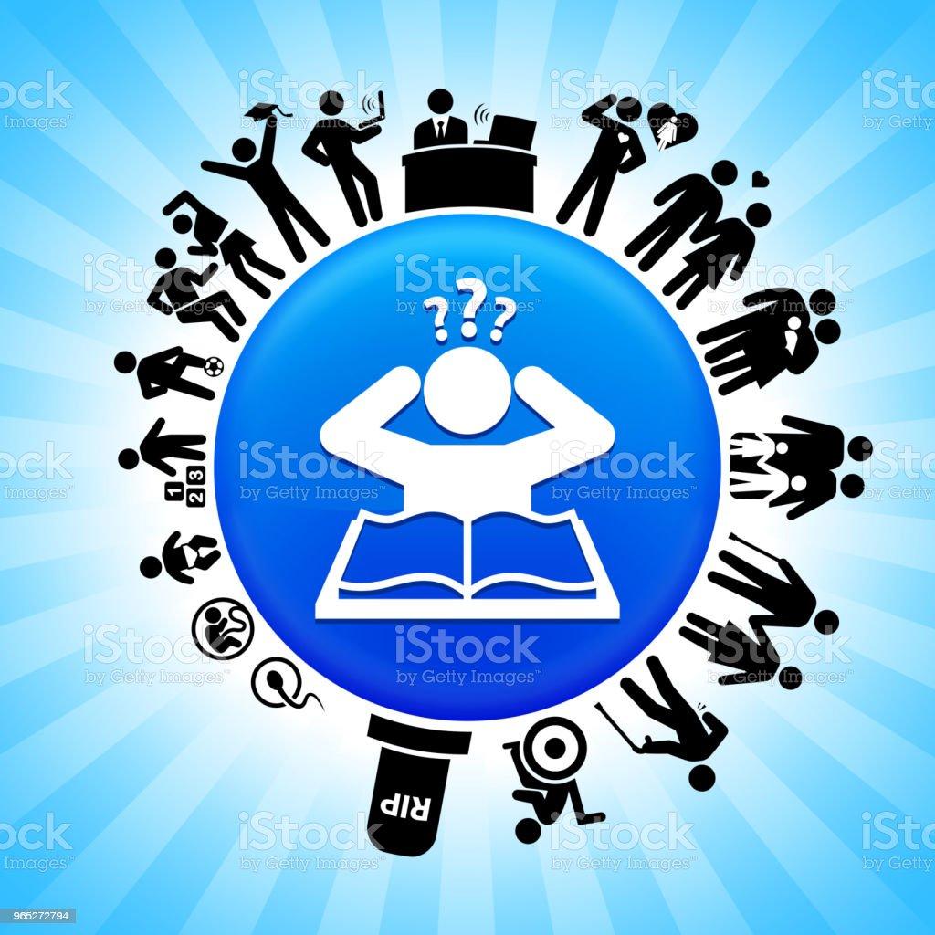 Confused Learning Lifecycle Stages of Life Background confused learning lifecycle stages of life background - stockowe grafiki wektorowe i więcej obrazów adolescencja royalty-free