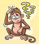 istock Confused Monkey Scratching Its Head 1213154438