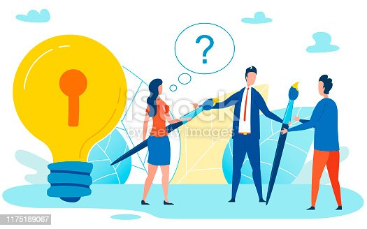 Confused Student Has Question Flat Illustration. Mentor, Professional Helping People New to Field Unlock their Potential Vector. Asking Teacher, Presenter About Subject of Discussion Cartoon Concept