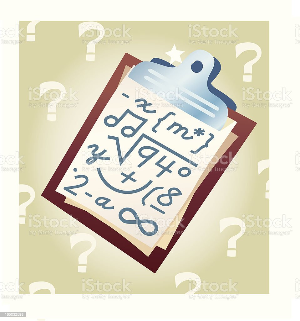 Confused? royalty-free stock vector art