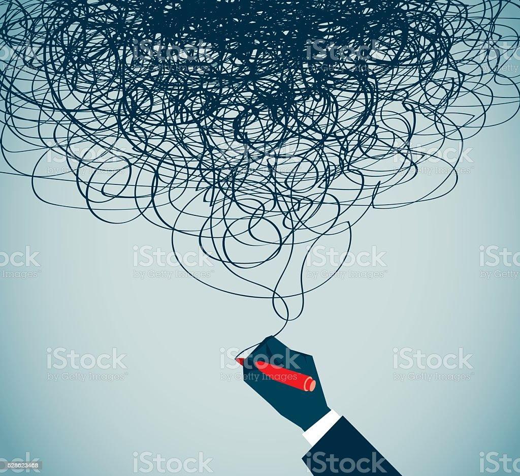 Confusion vector art illustration