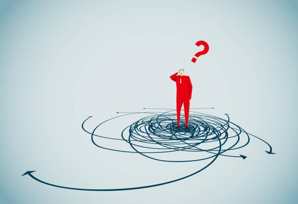 illustrazioni stock, clip art, cartoni animati e icone di tendenza di confusion - incertezza