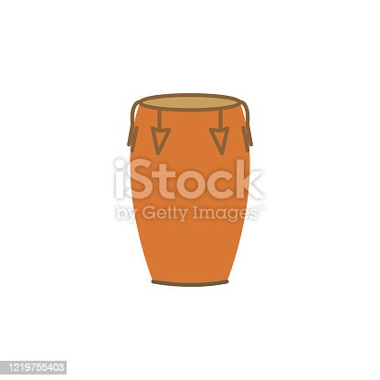 istock conga color illustration icon on white background 1219755403
