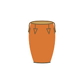 istock conga color illustration icon on white background 1219755403