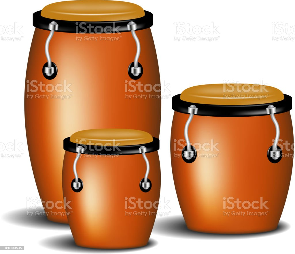 Congas band royalty-free stock vector art