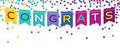 istock Congrats Banner Bunting Celebration Confetti 1231838758