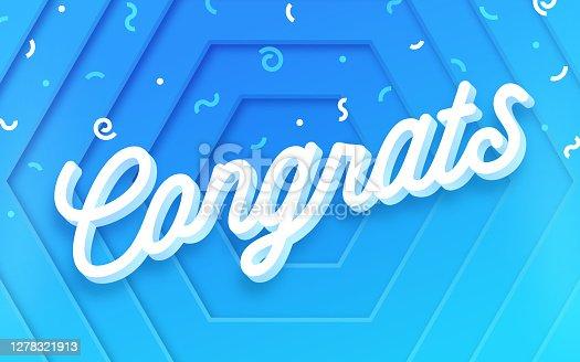 istock Congrats Celebration Abstract Confetti Background 1278321913