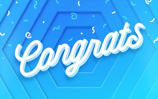 Congrats Celebration Abstract Confetti Background