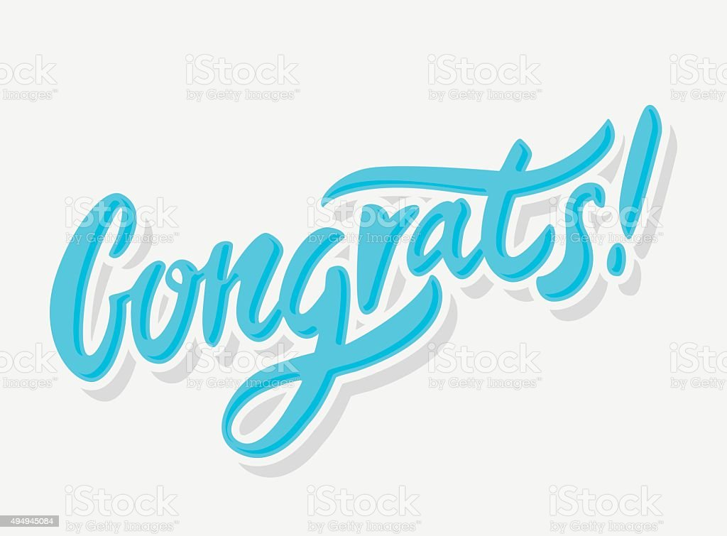 Congrats. Congratulations card. vector art illustration
