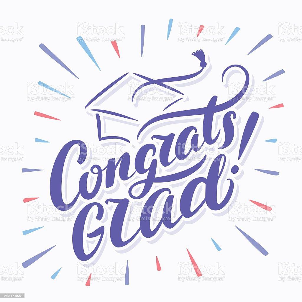 ilustração de congrats grad congratulations graduate banner e mais