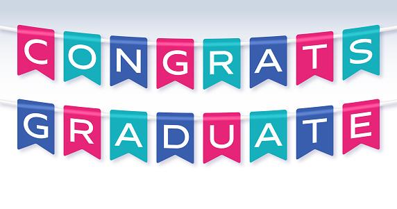 Congrats Graduate Banner Sign
