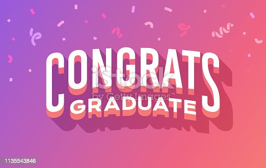 Congrats graduate graduation celebration party message.