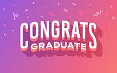 Congrats graduate graduation celebration party message.
