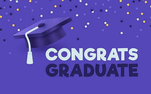 Congrats Graduate Graduation Mortarboard Celebration Design
