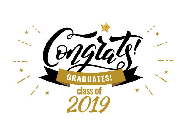 tebrikler 2019 mezuniyet sınıfı mezunları - graduation stock illustrations