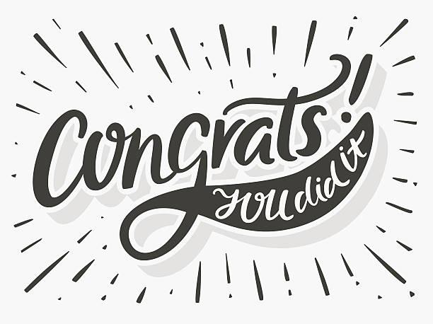 congrats. you did it. congratulations card. - congratulations stock illustrations, clip art, cartoons, & icons